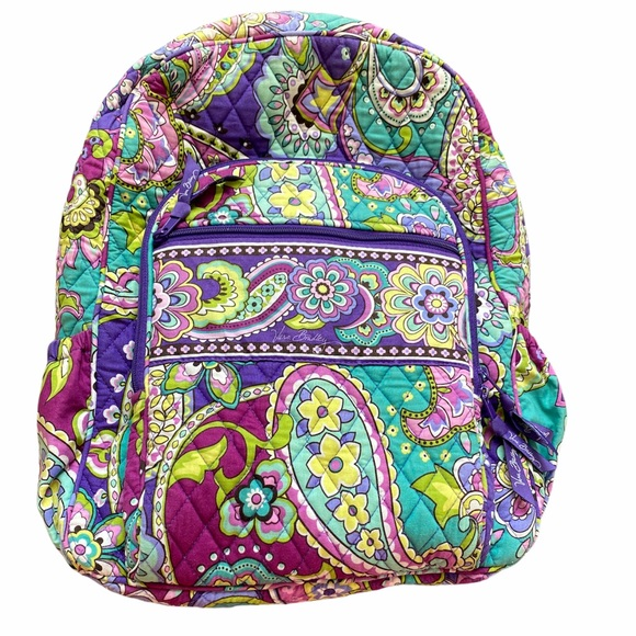 Vera Bradley Campus Backpack Purple Heather Print